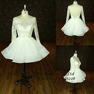 2014 new style appliqued lace Sweetheart crytal stone sash short wedding dress