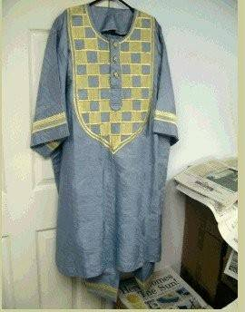 Stock fabric boubou kaftan.