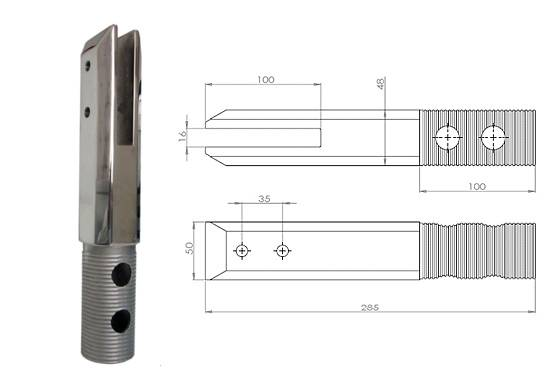 square core-drilled spigot