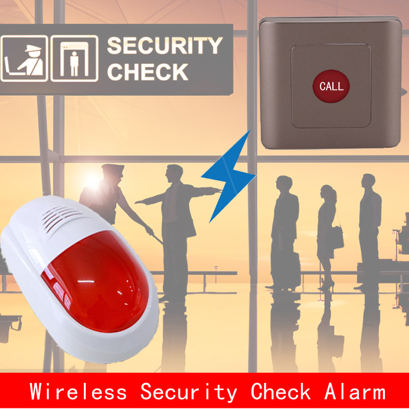 Wireless alarm for security check,wireless emergency call,can push the button to alarm policeman