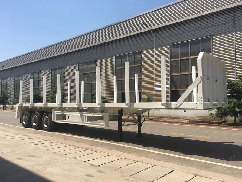 3 Axles Multi-purpose Flat Bed Semi-trailer