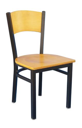 The camber panel metal chair restaurant chair dinning room chair