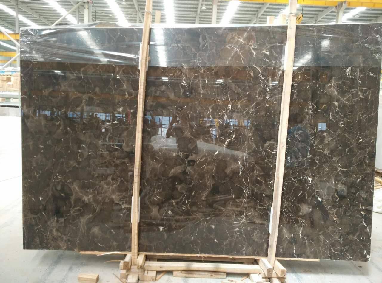 Chinese Dark Emperador marble slab & Tile
