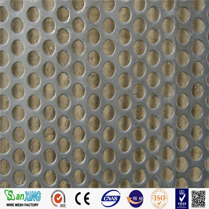 Perforated Wire Mesh / Perforated Metal Sheet Used For Display Panels