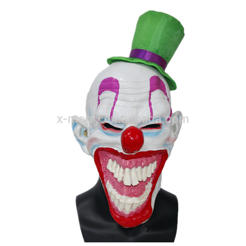 X-MERRY TOY Professional Funny Halloween Clown Mask With Hat Party Costume x12007