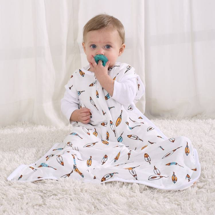 LAT Baby Bamboo Muslin Sleeping Bag