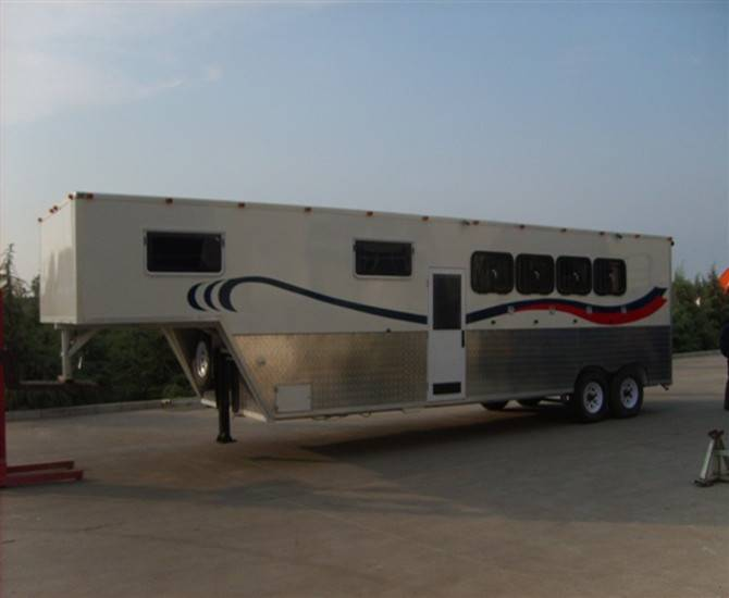 safety 4 horse gooseneck trailers from china