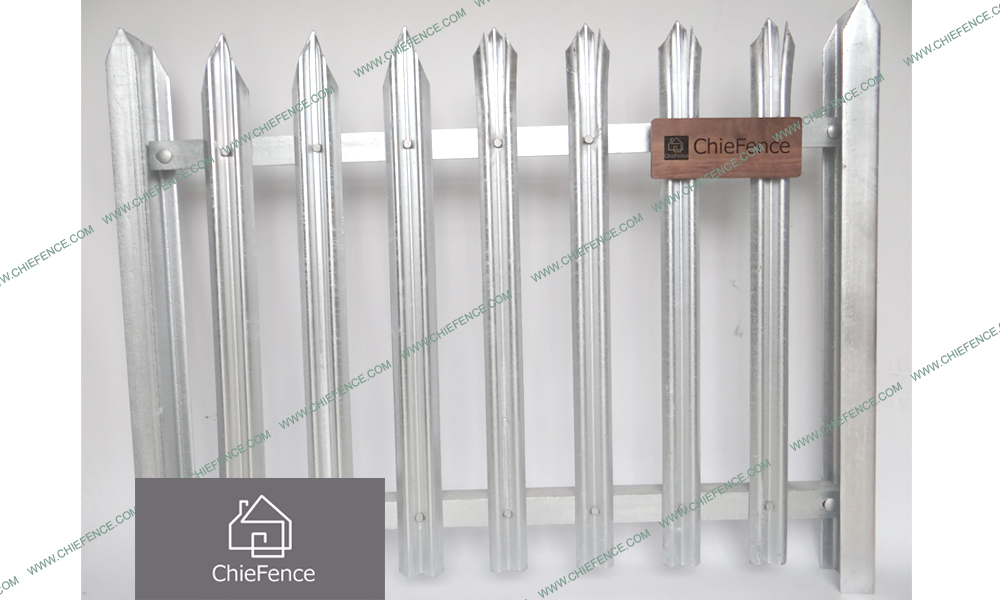 D pale galvanized palisade fence China D pale galvanized palisade fence