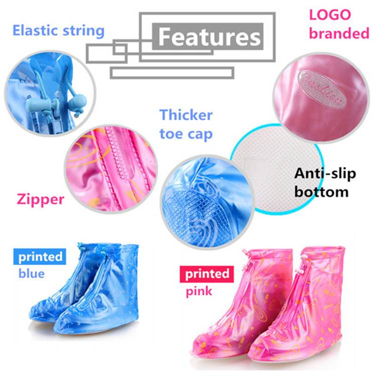 Elastic String Topline Fit for All PVC Rain Shoe Cover Over Boot