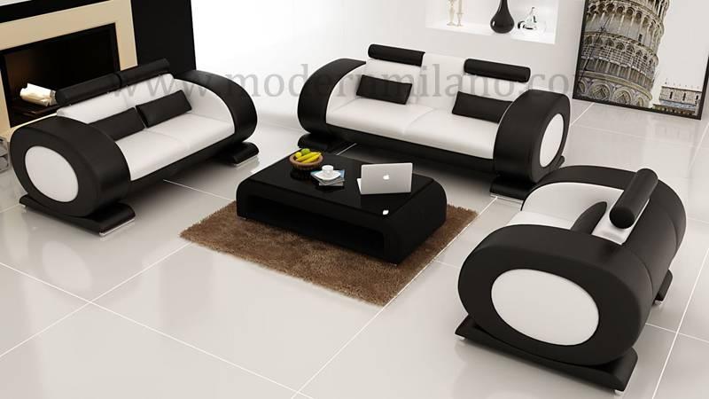 Modern 1+2+3 leather sofas
