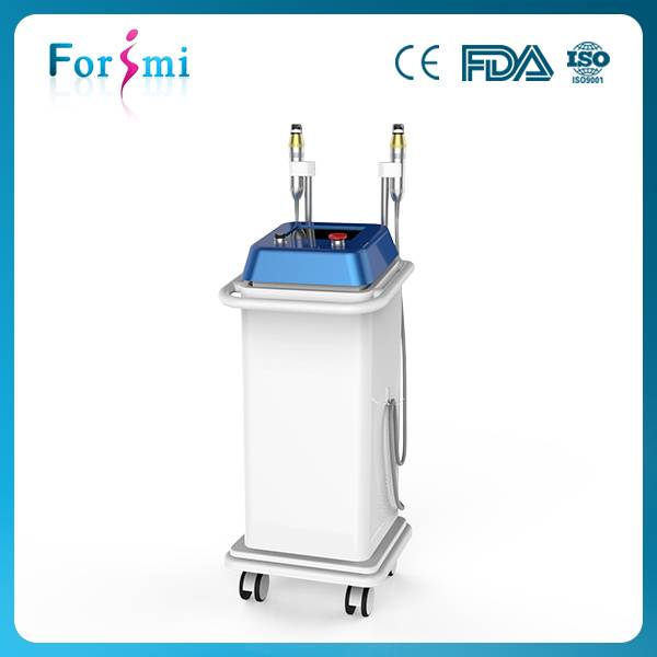 Fractional RF microneedle machine with two treatment heads