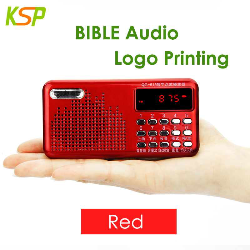 Portable Pocket Digital FM Bible Radio