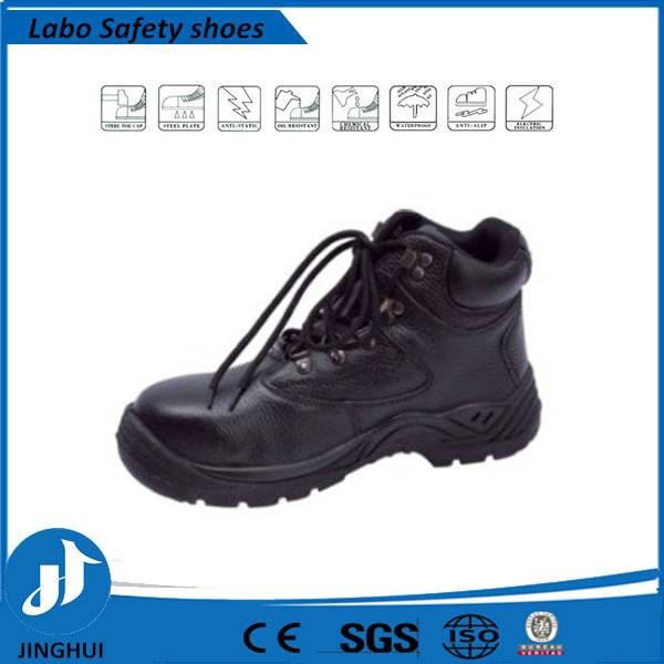 brown rubber sole high cut lightweight safety shoes