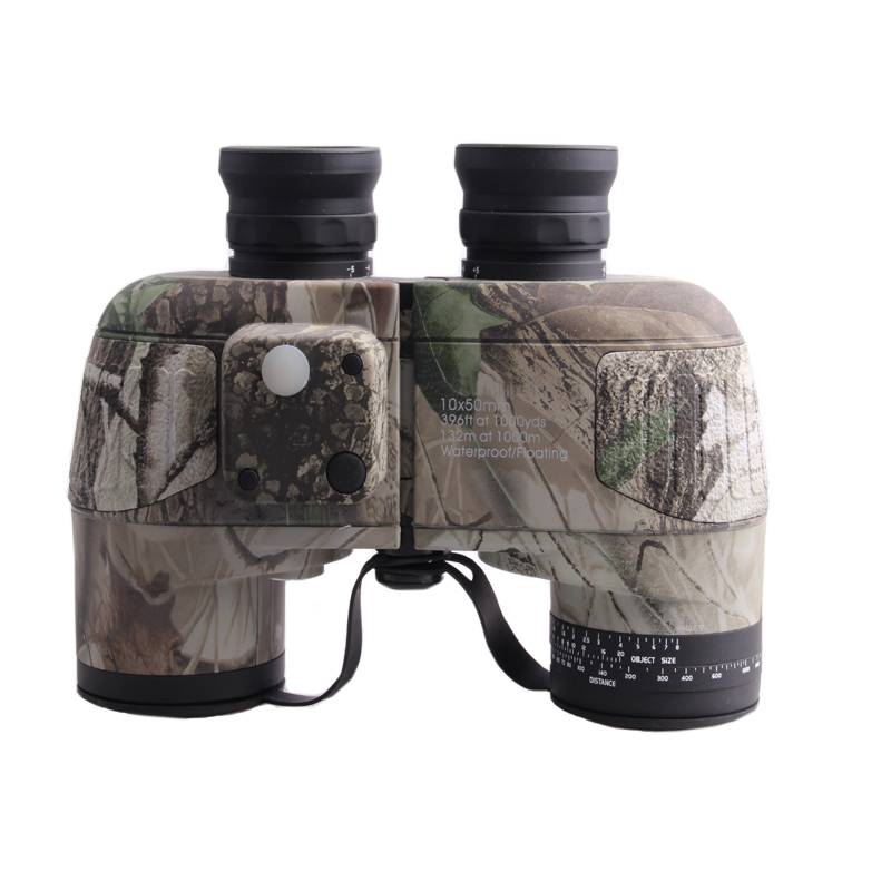 Good quality 10x50 waterproof bak4 prism military binoculars with compass
