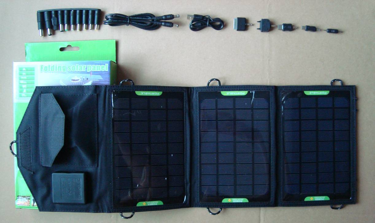 10.5watt foldable solar bag charger CY-010 with voltage controller fit for iPad/iPhone