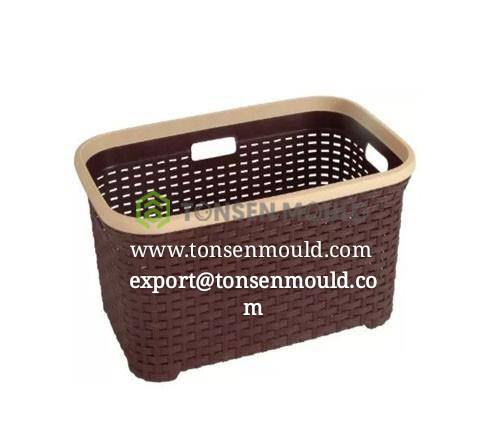 industion  pp rattan style basket mould tooling