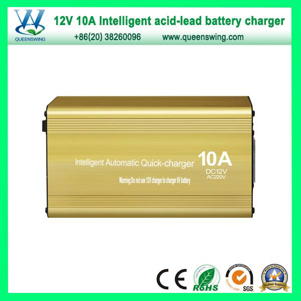 12V 10A Intelligent Storage Lead-Acid Battery Charger (QW-B10A)