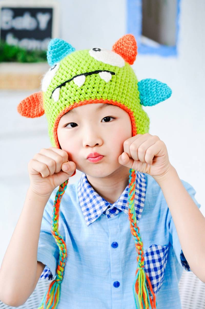Hand crochet children hats