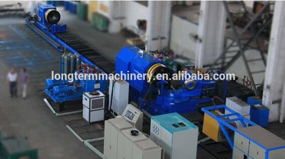 Extinguisher cylinder hot spinning necking-in machine