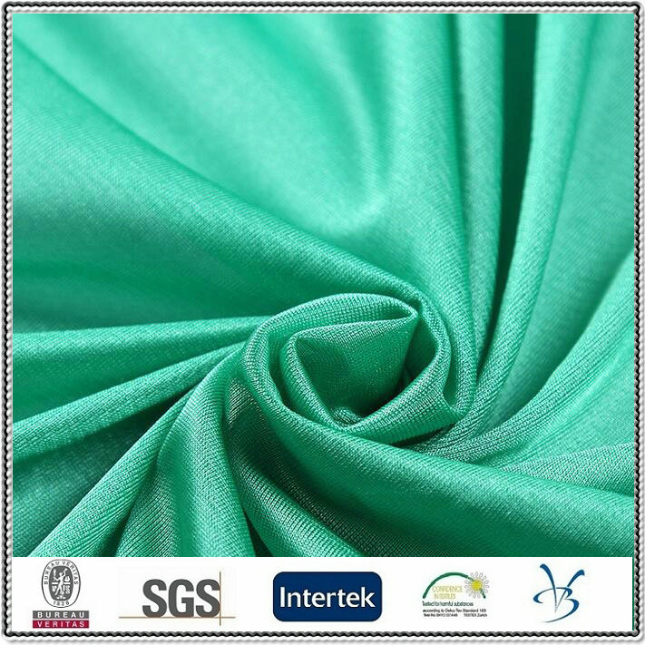 polyester shinny single jersey tricot dazzle sportwear fabric