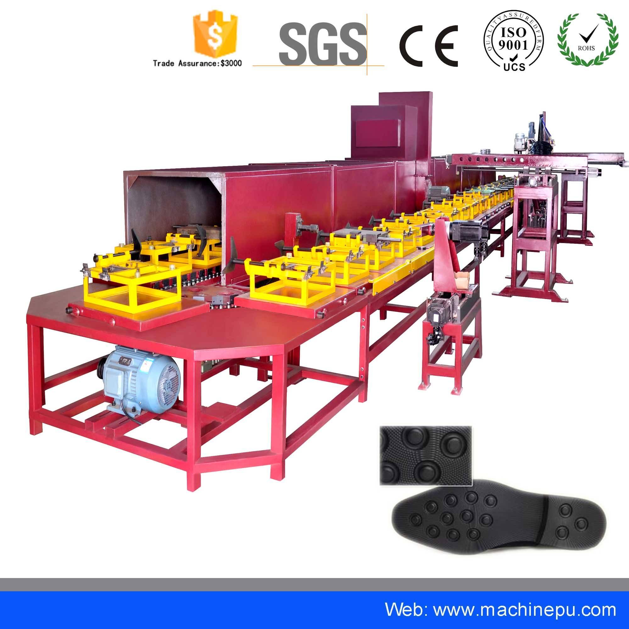Automatic Polyurethane PU Pouring Shoe Sole Making Machine