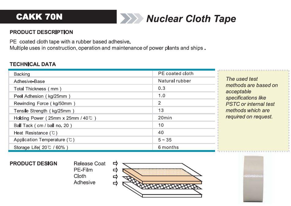 Nuclear Cloth Tape (CAKK 70N)