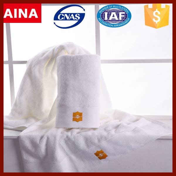 China Top 10 Towels' supplier high quality 100% cotton Jacquard weave white bathroom towel