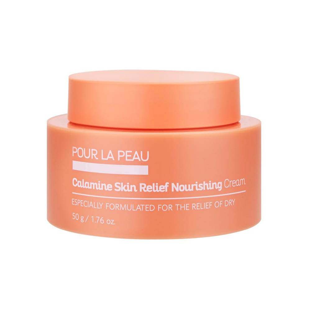 POUR LA PEAU Calamine Skin Relief Nourishing Cream for Skin Calming, Purify Skin from Red 1.76 oz