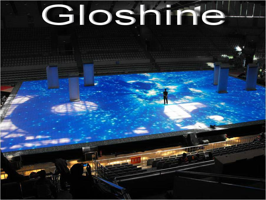 Gloshine full color p8.93 indoor LED dance floor display