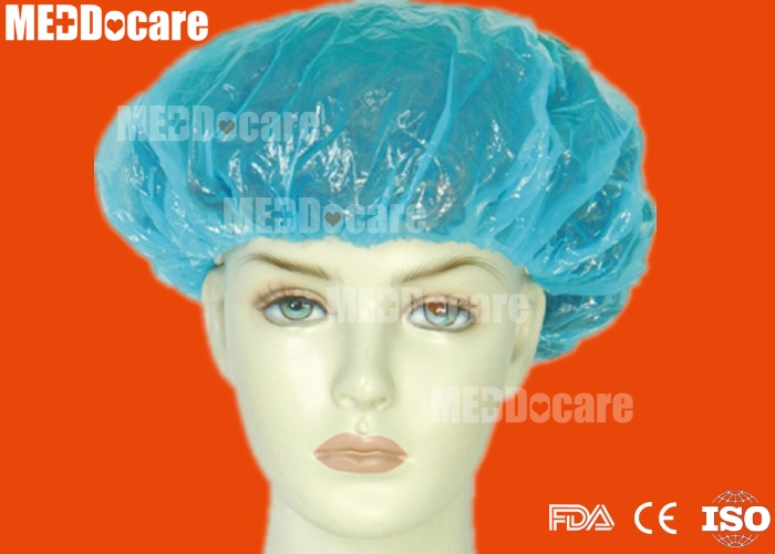 protective waterproof plastic disposable shower cap