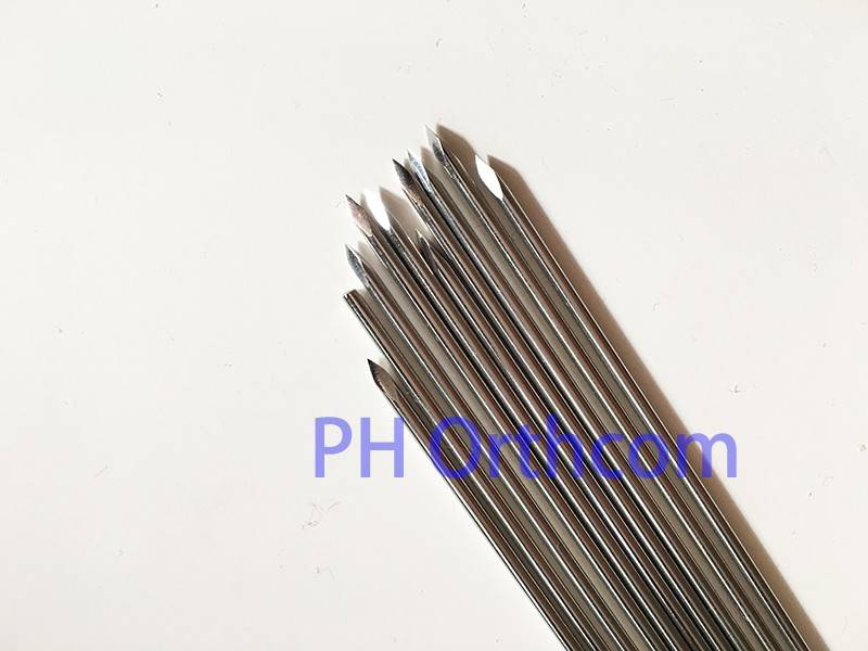 1.5/1.8/2.0/2.5/3.0/3.5x250mm K.Wires with Single end Stainless Steel 317L Orthopedic Instrument