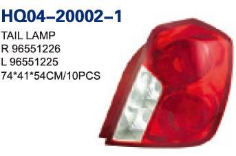 Chevrolet/Daewoo/Opel Nubira 2003/Optra 2003/Lacetti Tail Lamp(96551226 96551225)