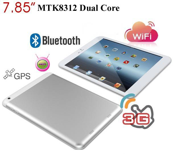 7.85inch Android Tablet PC dual core with 3G phone call dual SIM dual camera