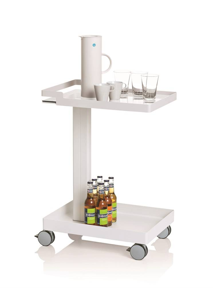 Uispair 100% Steel Tow-Layers Kitchen Cart Furniture for Items Storage