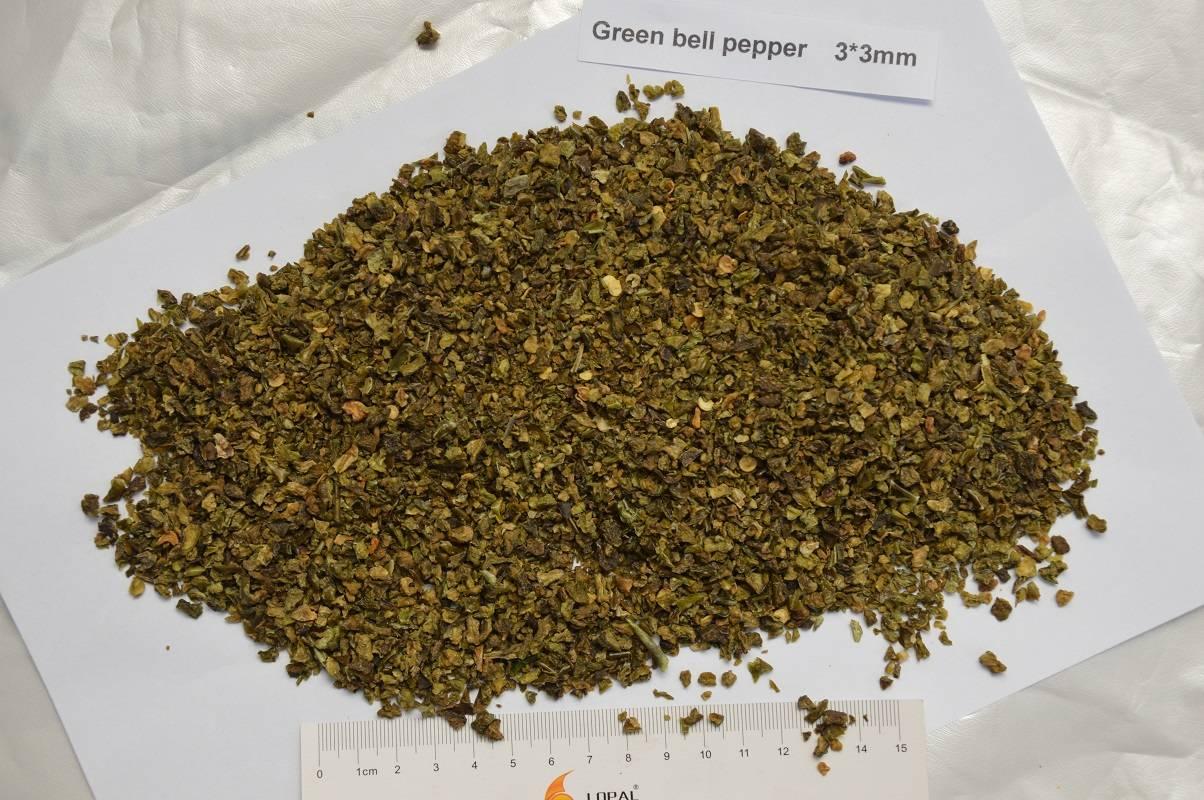 dried green bell pepper/dehydrated green bell pepper 3*3mm