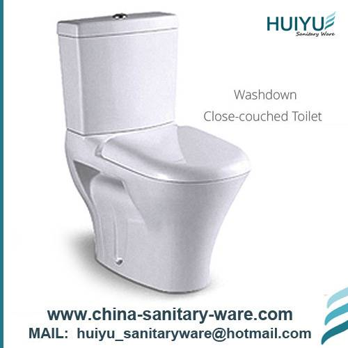 2 PCS Hot Selling White Ceramic Toilet