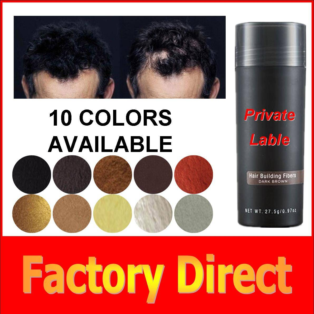 Wholesale Instant Keratin Hair Building Fibers 25g/27.5 hair regrowth products