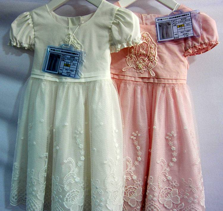 Summer Short Sleeve Formal Party Kids Wear Lace Maxi Dresses