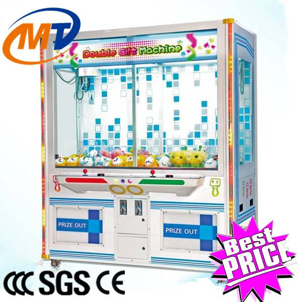 Hot Sale Coin Operated Crane Game Double Gift Machine, Gift Toy Vending Machine