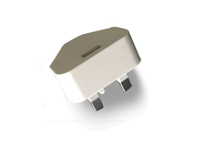5V 1A Uk Plug Wall Adapter Smartphone Mobile Charger with white