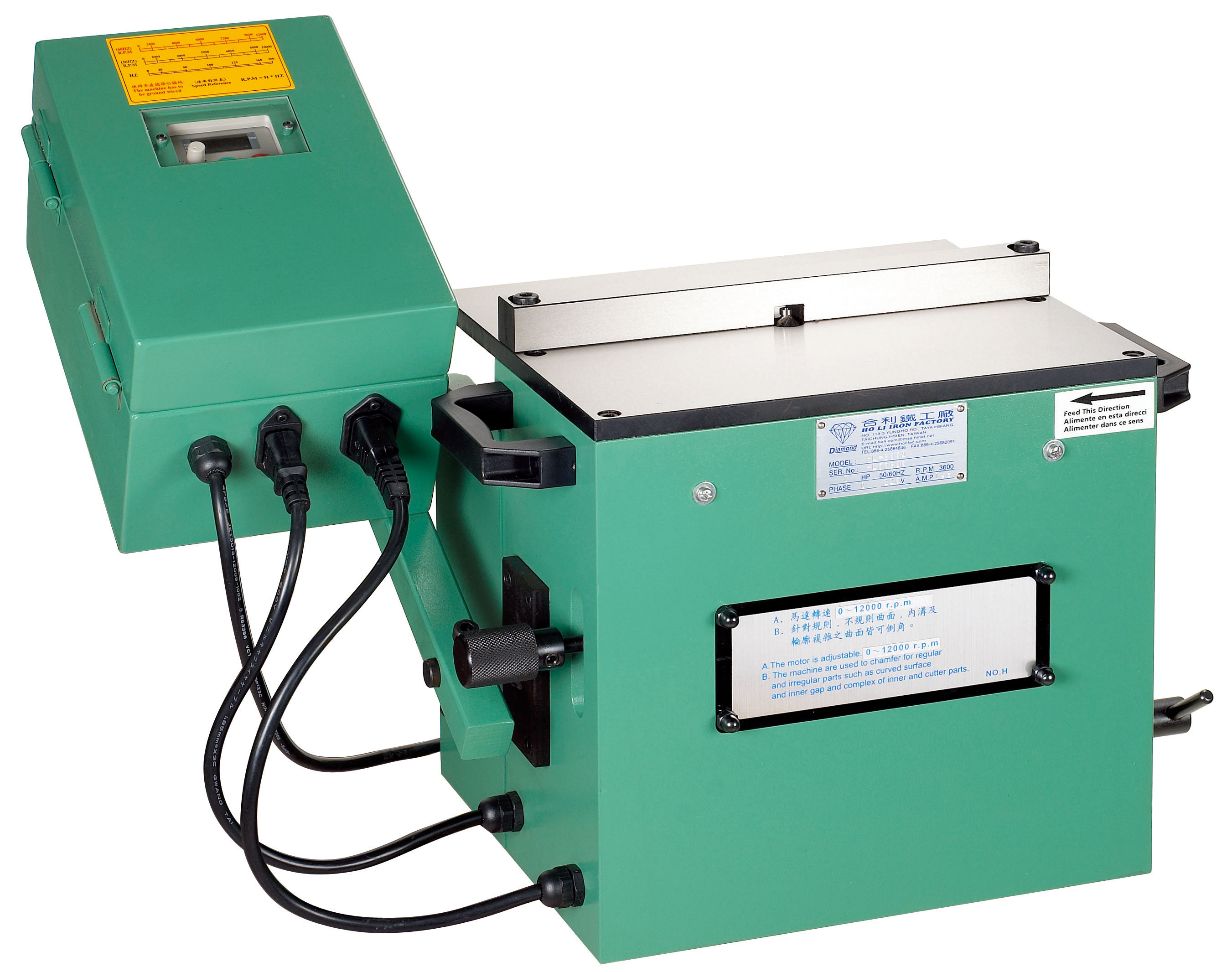 JT-300A Inverter chamfering machine ( regular+irregular)