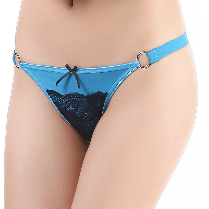 Very Sexy Steel Ring G-string Front Sexy Charming Lace Lingerie Funny Thongs For Women