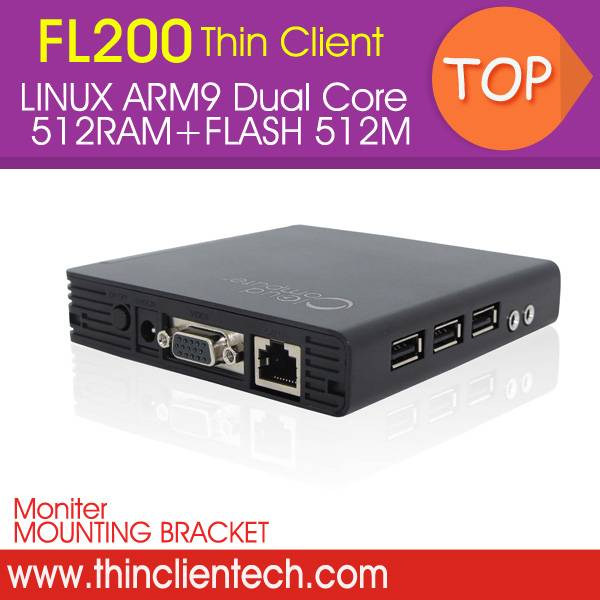 FL200 Thin Client Computer Share With ARM Dual core 1Ghz