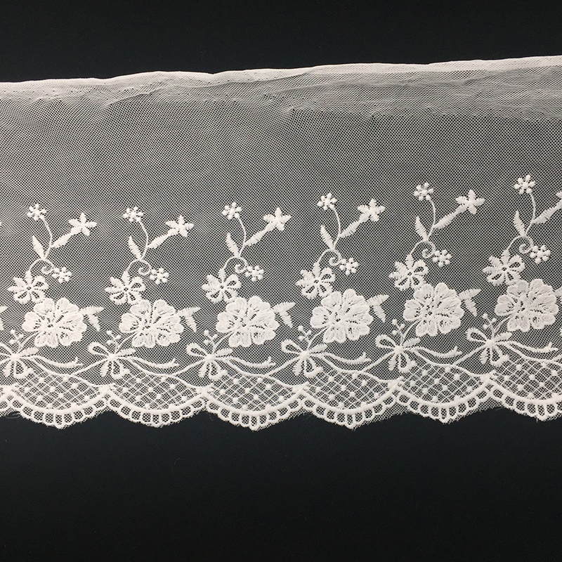 Good quality Cheaper Price White Embroidery Lace Trim