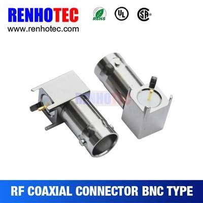 Right Angle BNC Female Connector For PCB Mount