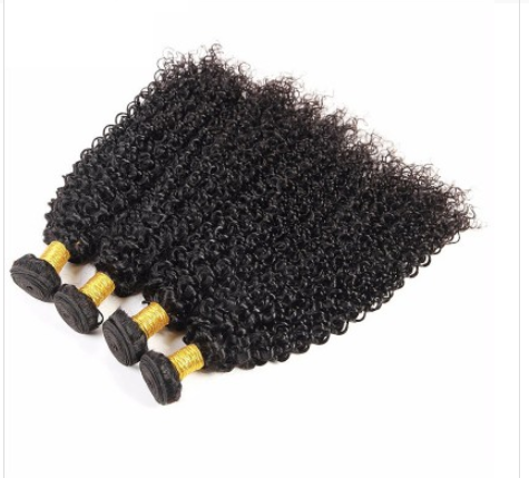[8A]4 Bundles Malaysian Hair Weave Kinky Curly with 360 Lace frontal