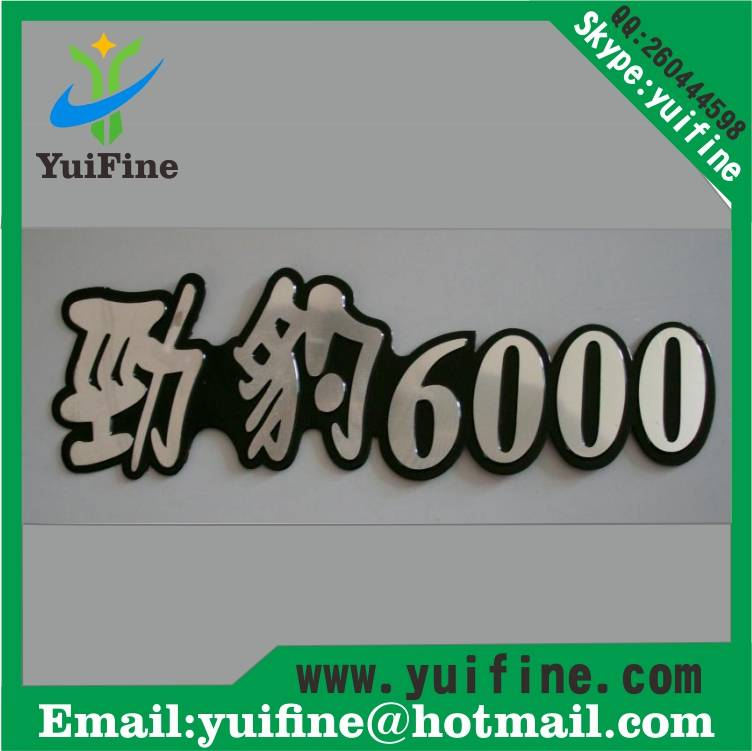 aluminum name plate costomized logo metal label tag with adhensive embossed nameplate