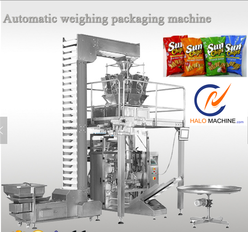 filling snack puffed food packaging popcorn potato chips packing machine