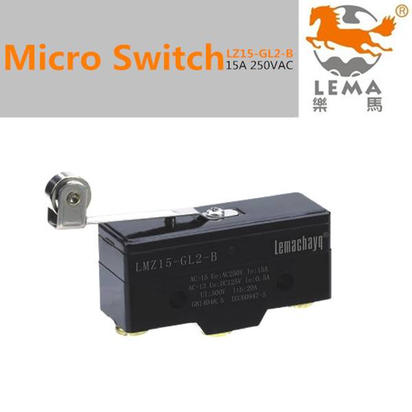 Long roller lever limit switch
