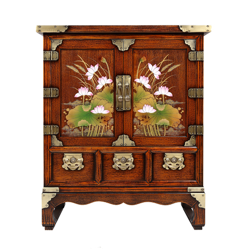 Korean Antique Style Bedside Table Furniture